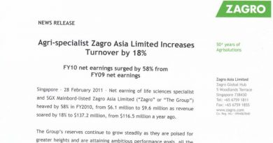 Zagro News Release